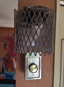 Original Coleman Cool-Ray Gas Lite -Works! Her original propane Hydro Flame furnace still works as well.