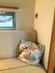 Vintage barkcloth throw pillow cover