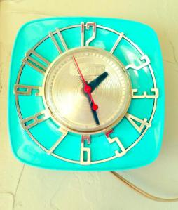 The 1960's era clock that inspired Myrtle's exterior paint color.